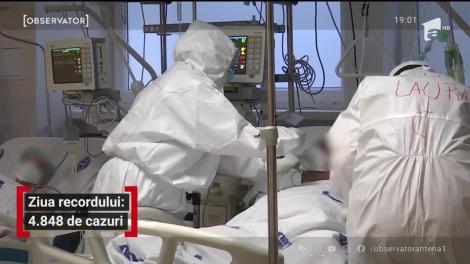 România se apropie de un nou prag de alertă: 5.000 de cazuri noi pe zi! Multe spitale au porţile închise pentru bolnavi