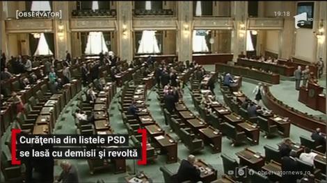Curățenia din listele PSD pentru parlamentare se lasă cu demisii și revoltă