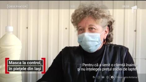 Masca la control, în piețele din Iași