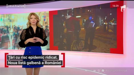 Țări cu risc epidemic ridicat. Noua listă galbenă a României