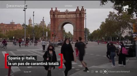 Spania şi Italia, la un pas de carantină totală