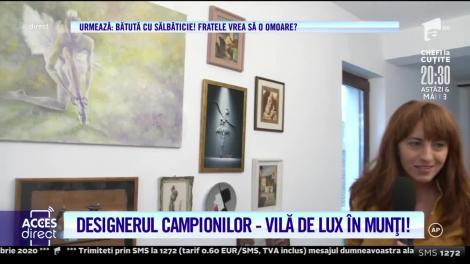 Dana Tănase, designerul campionilor, are o vilă de lux în munți