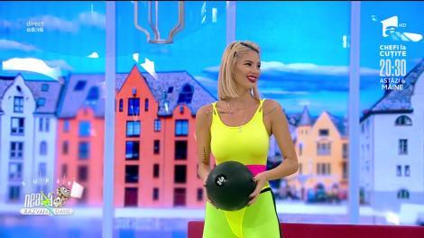 Exerciții cu mingea medicinală, cu Diana Stejereanu