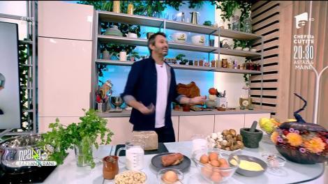 Cappuccino de ciuperci. Reţeta lui Nicolai Tand, la Neatza cu Răzvan şi Dani
