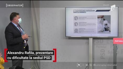 Alexandru Rafila, prezentare cu dificultate la sediul PSD