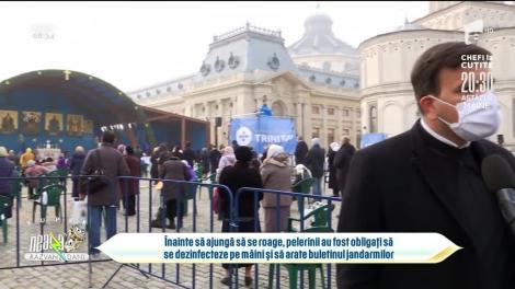 Mii de persoane la pelerinajul din București. Racla cu moaștele Sfântului Dimitrie, dezinfectată după fiecare credincios
