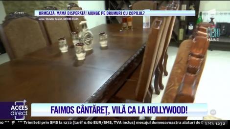 Alex de la Caracal, faimosul cântăreț, are o vilă ca la Hollywood. Dormitorul costă 30 de mii de euro