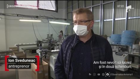 De la perne și pilote, un antreprenor din Suceava a trecut la măști de unică folosință