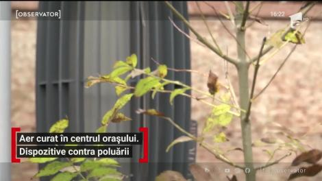 Aer curat în centrul orașului Sibiu. Dispozitive contra poluării