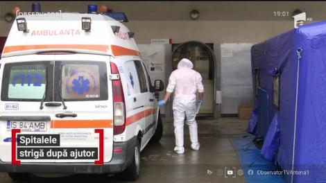 Medicii de la spitalul Floreasca cer autorităţilor corturi pentru triajul bolnavilor de COVID
