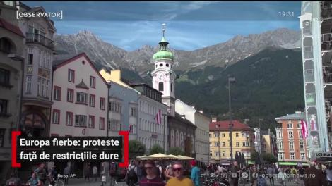 Proteste în Europa față de resticțiile dure