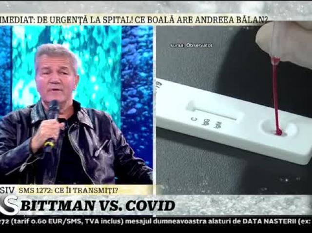 """Dan Bittman, despre scandalul Covid: """"Nu sunt împotriva măștii"""""""