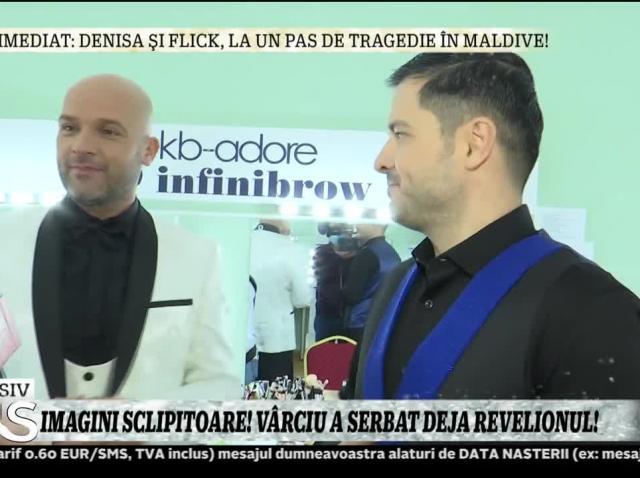 Imagini sclipitoare! Liviu Vârciu, Mirela Vaida și Andrei Ștefănescu au serbat deja Revelionul