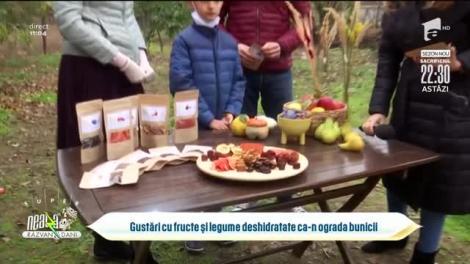 Gustări cu fructe și legume deshidratate ca-n ograda bunicii