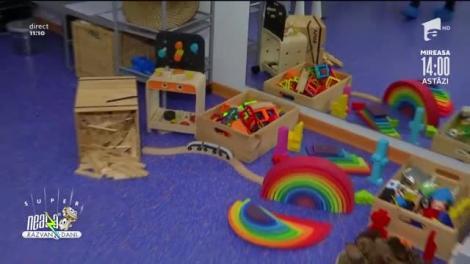 Spații special amenajate pentru copii cu vârsta între doi și șase ani