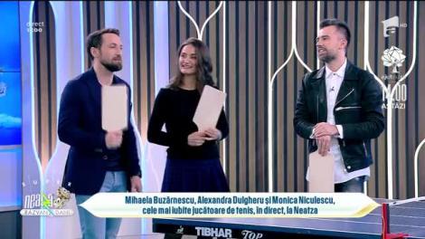 Mihaela Buzărnescu, Alexandra Dulgheru și Monica Niculescu joacă tenis de masă alături de echipa de la Neatza