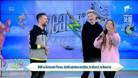 Bibi și Antonio Pican, idolii adolescenților, în direct, la Neatza