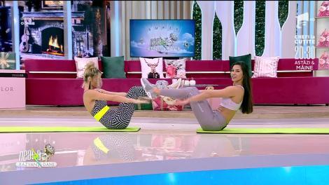 Antrenament cu partener full body. Fitness cu Diana Stejereanu, la Neatza cu Răzvan și Dani