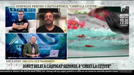 """Surpriză pentru câștigătorul """"Chefi la cuțite""""! Chef Sorin Bontea: E născut să gătească"""
