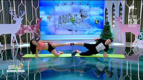 Antrenament cardio cu partener. Fitness cu Diana Stejereanu, la Neatza cu Răzvan și Dani