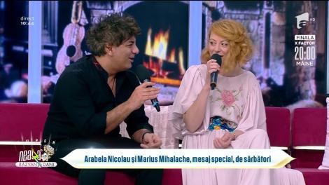Arabela Nicolau și Marius Mihalache, mesaj special, de sărbători