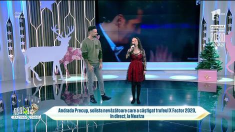 Andrada Precup, solista nevăzătoare care a câștigat trofeul X Factor 2020, în direct, la Neatza!