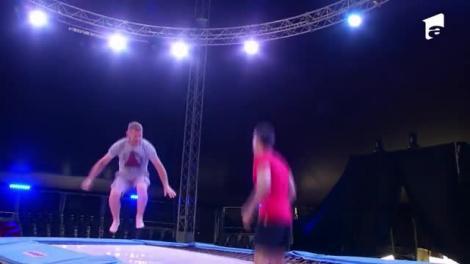Poftiți la circ 2020, ediția 2. Marian Drăgulescu a fost la un pas de accidentare, în timpul unui exercițiu la trambulină