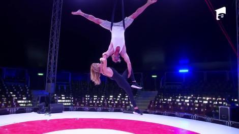 Ana Baniciu și Raluka, spectacol de acrobații la înălțime: Am simți că zbor