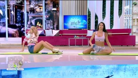 Antrenament ușor pentru abdomen. Fitness cu Diana Stejereanu, la Neatza cu Răzvan și Dani