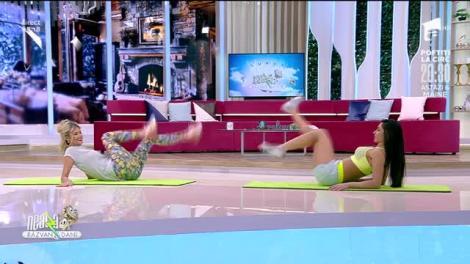 Antrenament intens pentru abdomen. Fitness cu Diana Stejereanu, la Neatza cu Răzvan și Dani