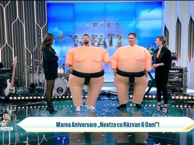 Rațele și vânătorii în costume de sumo! Concurs super amuzant cu Răzvan, Dani, Ana Baniciu și Raluka