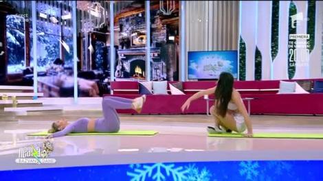 Antrenament pentru talie. Fitness cu Diana Stejereanu, la Neatza cu Răzvan și Dani