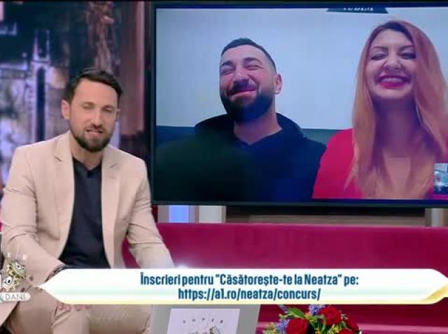 Căsătorește-te la Neatza. Loredana Cazacliu și Bogdan Șerban, poveste de iubire amuzantă