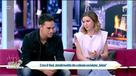 Cristina Ciobănaș și Vlad Gherman, detalii inedite din culisele serialului Adela