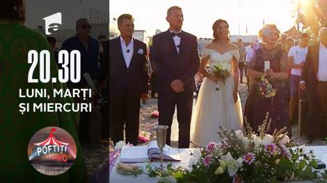 Sony și Dana Aparaschivei, nuntă ca-n povești la Poftiți la circ!