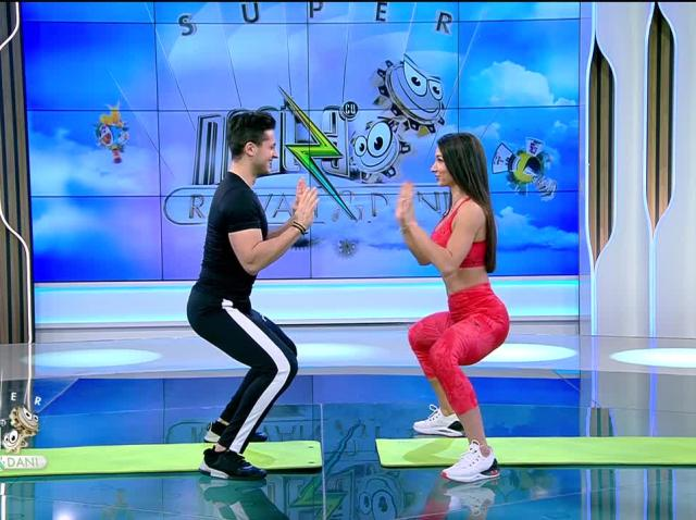 Antrenament intens cu partener. Fitness cu Diana Stejereanu, la Neatza cu Răzvan și Dani