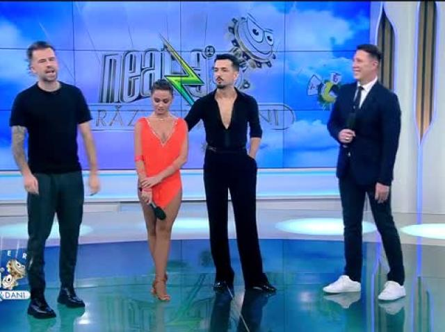 Dan Țepuru și Andreea Mihalașcu, demonstrație de Cha-Cha și Jive, la Neatza cu Răzvan și Dani