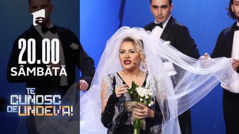 """Mirela Vaida se transformă în Madonna - """"Material Girl"""", la Te cunosc de undeva!"""