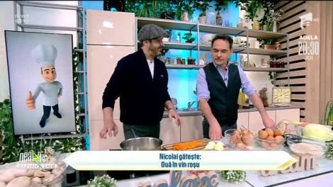 Ouă în vin roșu, rețeta lui Chef Nicolai Tand