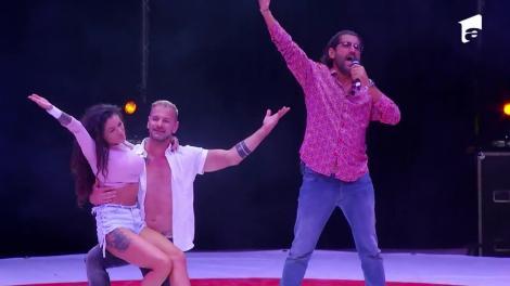 Cezar Ouatu și Roxana Vancea, moment emoționant pe scena circului Bellucci