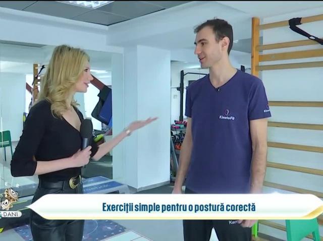 Exerciții simple pentru o postura corectă