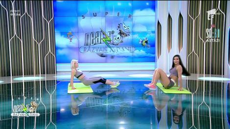 Antrenament cu farfurie de plastic. Fitness cu Diana Stejereanu