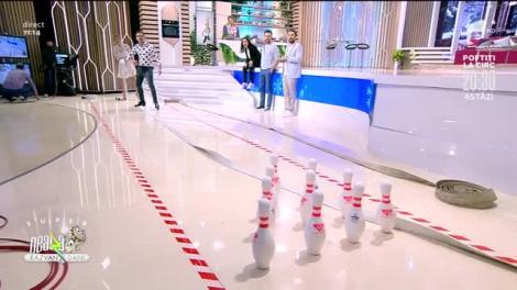 Bowling cu furtunul de pompieri, provocarea de la Neatza cu Răzvan și Dani