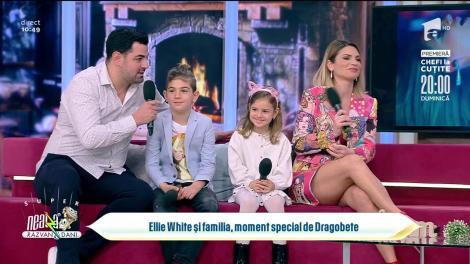 Ellie White și familia, moment special de Dragobete: Ne-am cunoscut pe un site de socializare