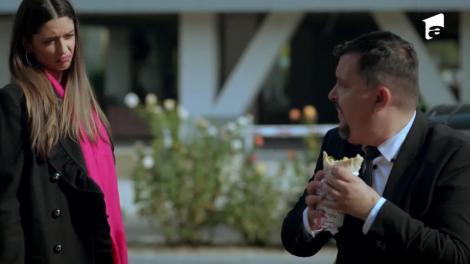 Andreea face pe șefa cu angajații lui Paul Andronic: Aruncă șaorma și du-mă acasă, nu îți face rău să slăbești!