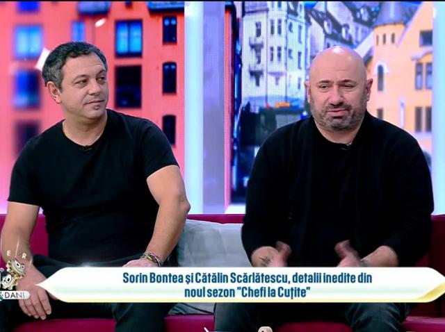 Sorin Bontea și Cătălin Scărlătescu, detalii inedite din noul sezon Chefi la Cuțite: Nu este un sezon spectaculos, ci unul rachetă!