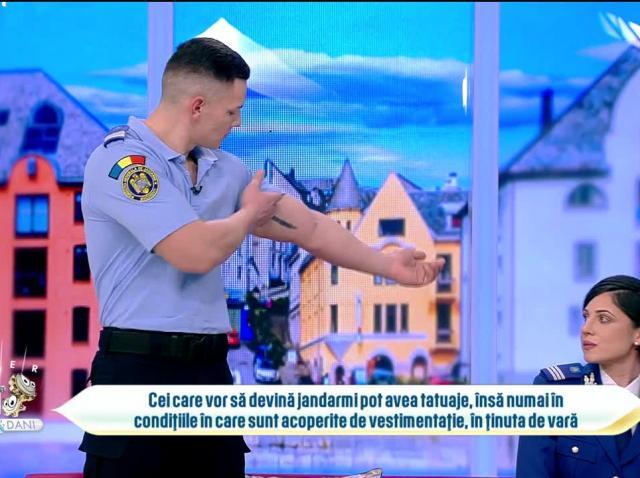 Noi reguli în Jandarmeria Română. Tatuajele sunt permise, dar în anumite condiții