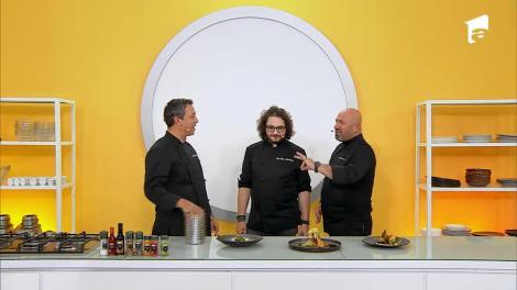 Lupta pentru amuletă. Ce super preparate au pregătit chefii. Chef Scărlătescu, către chef Bontea: Ai COVID, nu mai simți para!?