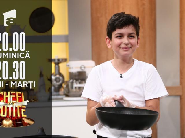 """Raul Ivan, micul bucătar de la Chefi la cuțite: """"Am pasiunea de gătit de la tată"""""""