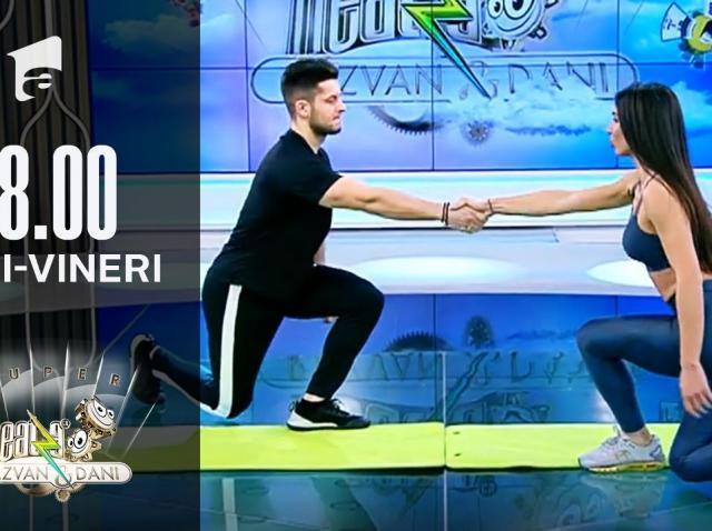 Antrenament full body cu partener. Fitness cu Diana Stejereanu